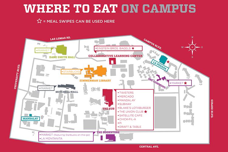 Food Around Campus Unm The